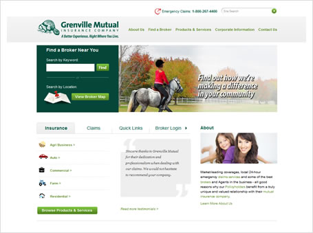 screen shot - Grenville Mutual Insurance Company