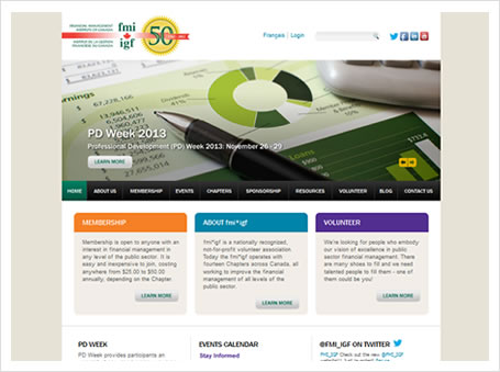 Financial Management Institute of Canada Website Launch